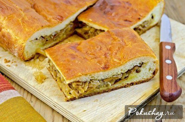 Как приготовить вкусный пирог с капустой? Пошаговый рецепт ...