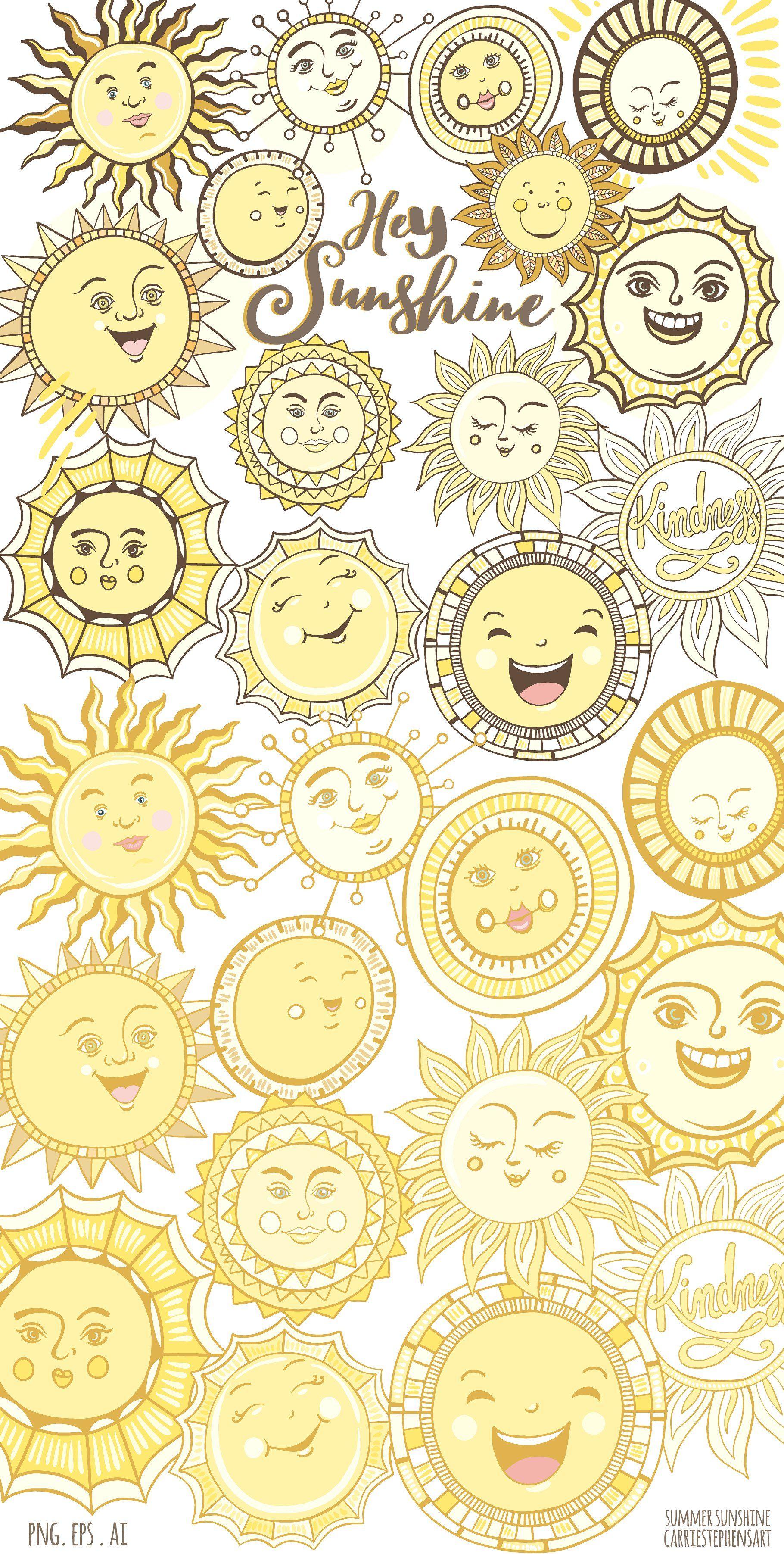 Summer Sun Vector Png Graphics Sun Doodles Neon Wall Art Sun Art
