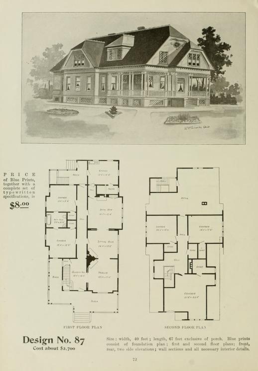 The Radford Ideal Homes : 100 House Plans 100 #RetroHomeDecor