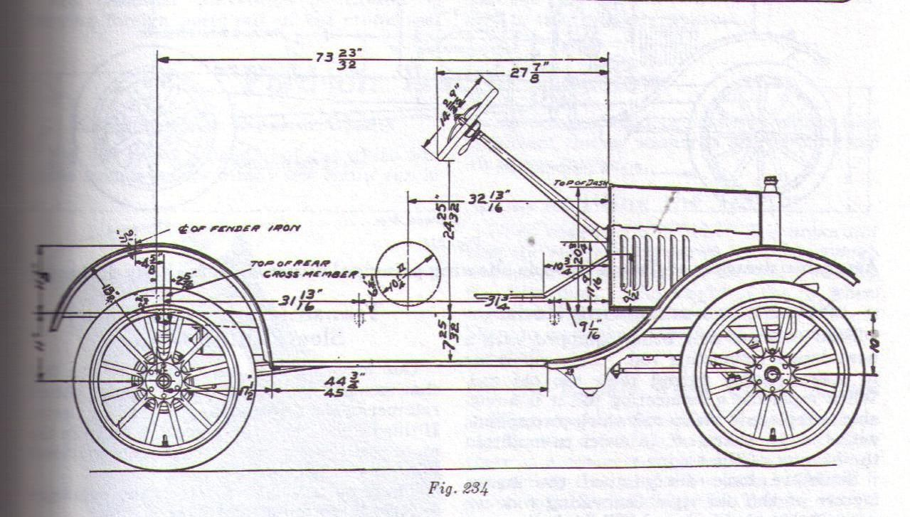 Click On The 1926-27 Model T Frame Dimension Link