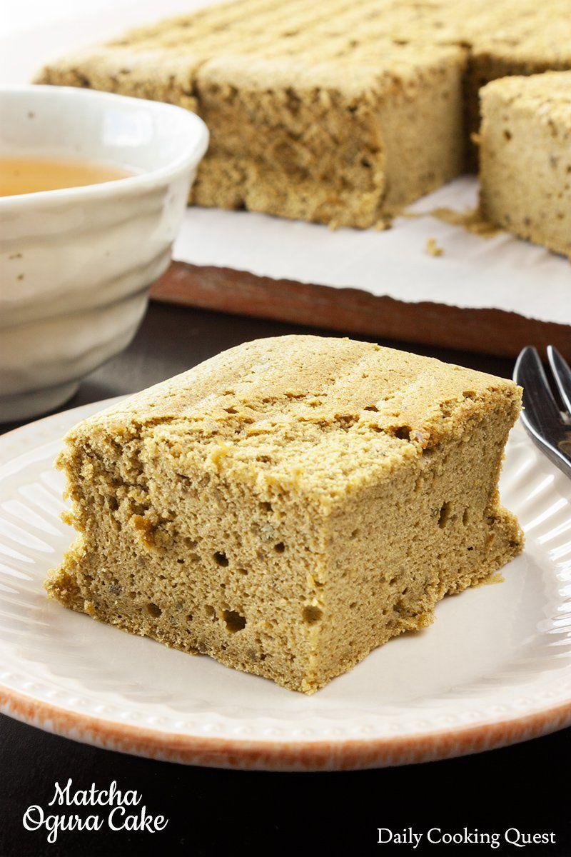 Matcha Ogura Cake Recipe (With images) Dessert recipes