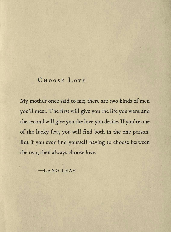 Always Choose Love Langleav Relationships Pinterest Love
