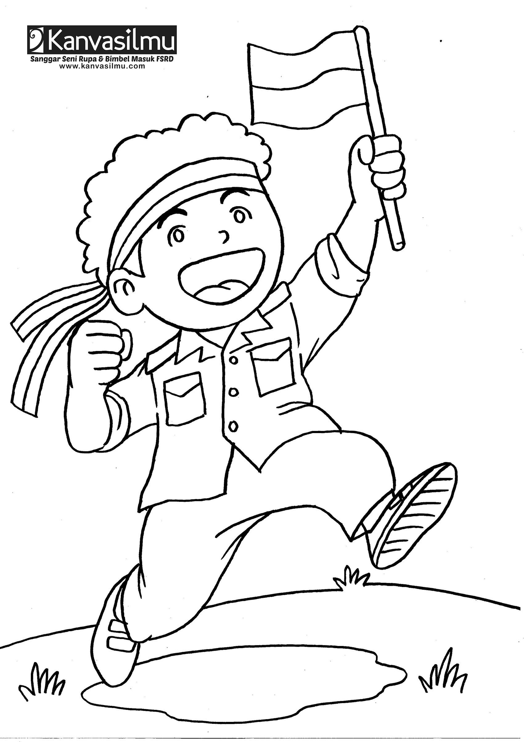 Gambar Sketsa Pahlawan Nasional Indonesia