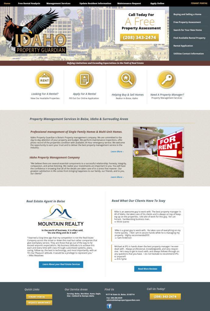 Pin By Key Design Websites On Website Design Property Management Management Idaho
