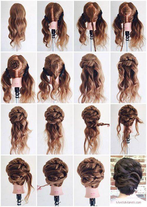 Long Hair Updos How To Style For Prom Hairstyle Tutorials Recogido Para Cabello Largo Ideas De Cabello Largo Peinados Updo