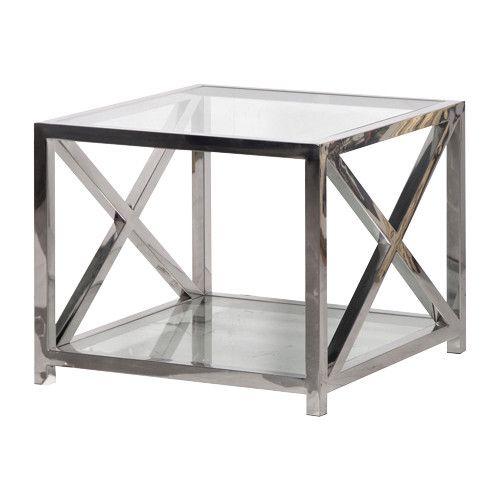 Boston Chrome U0026 Glass Criss Cross Side Table