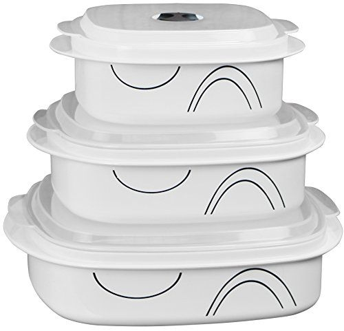 Corelle Coordinates By Reston Lloyd 6 Piece Microwave Cookware