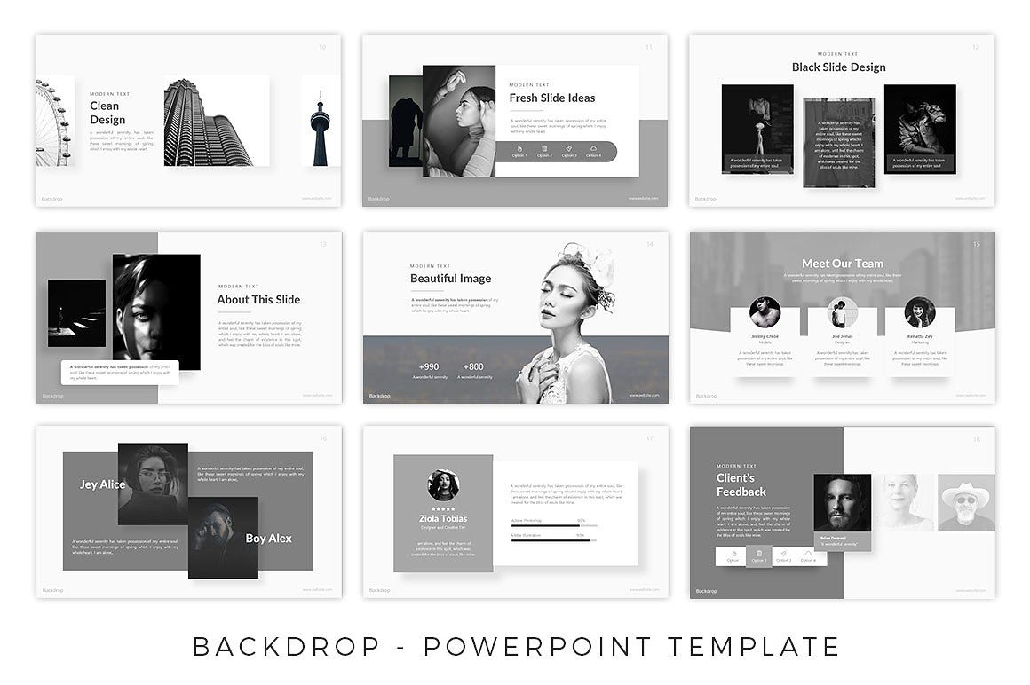Backdrop Black And White Template Black And White Aesthetic Powerpoint Templates Powerpoint
