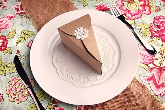 Piece Of Cake Paper Box To Diy With Free Printable