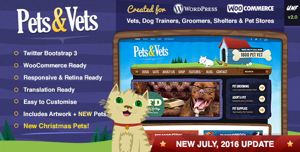 About The Pets Amp Vets Wordpress Theme Promote Your Pet Store