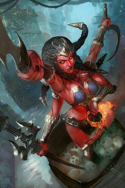 Kali fanart - Smite  Found on #artstation | SMITE! | Fantasy
