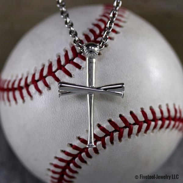 2.0 fivetool baseball bat cross pendant | jewlery | pinterest ...