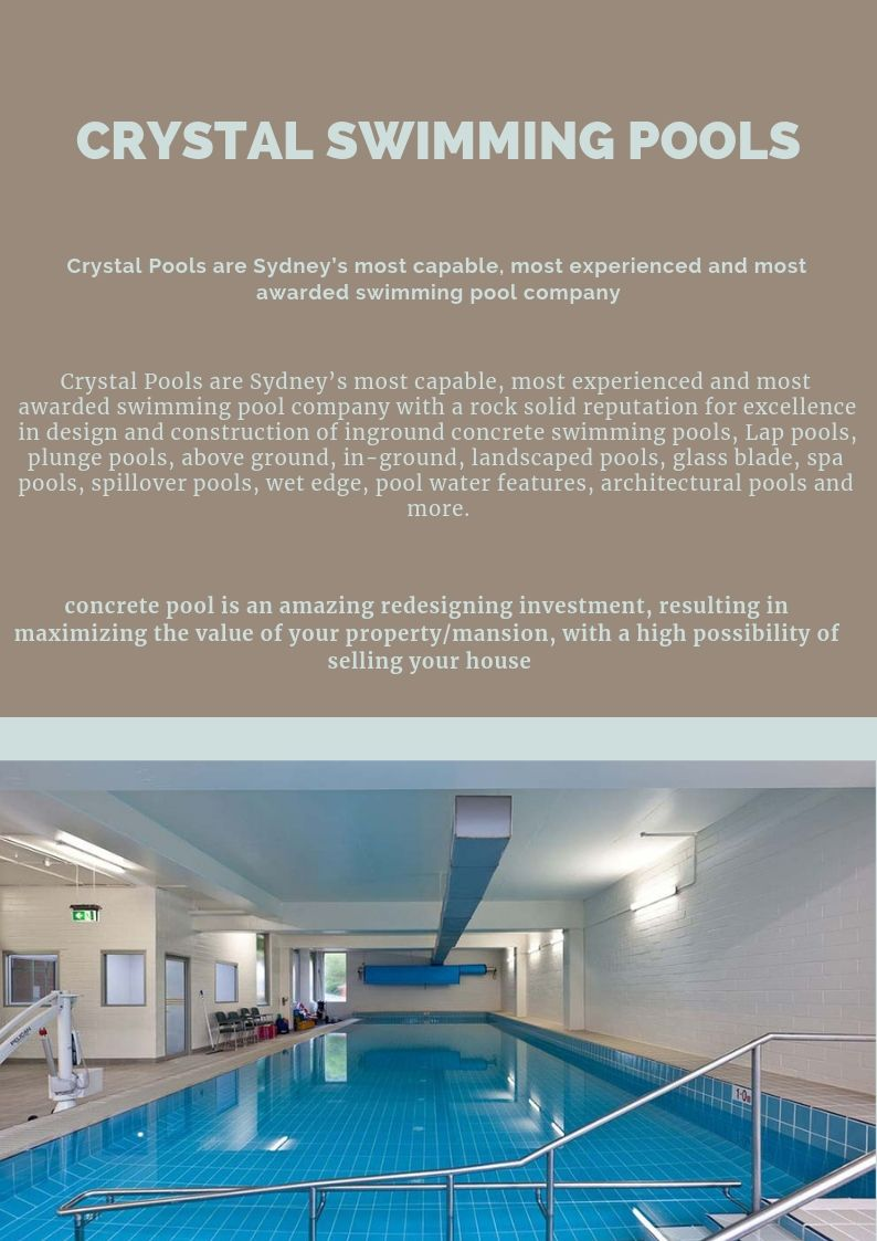 Crystal Pools is Sydney\'s most capable, most experienced and most ...