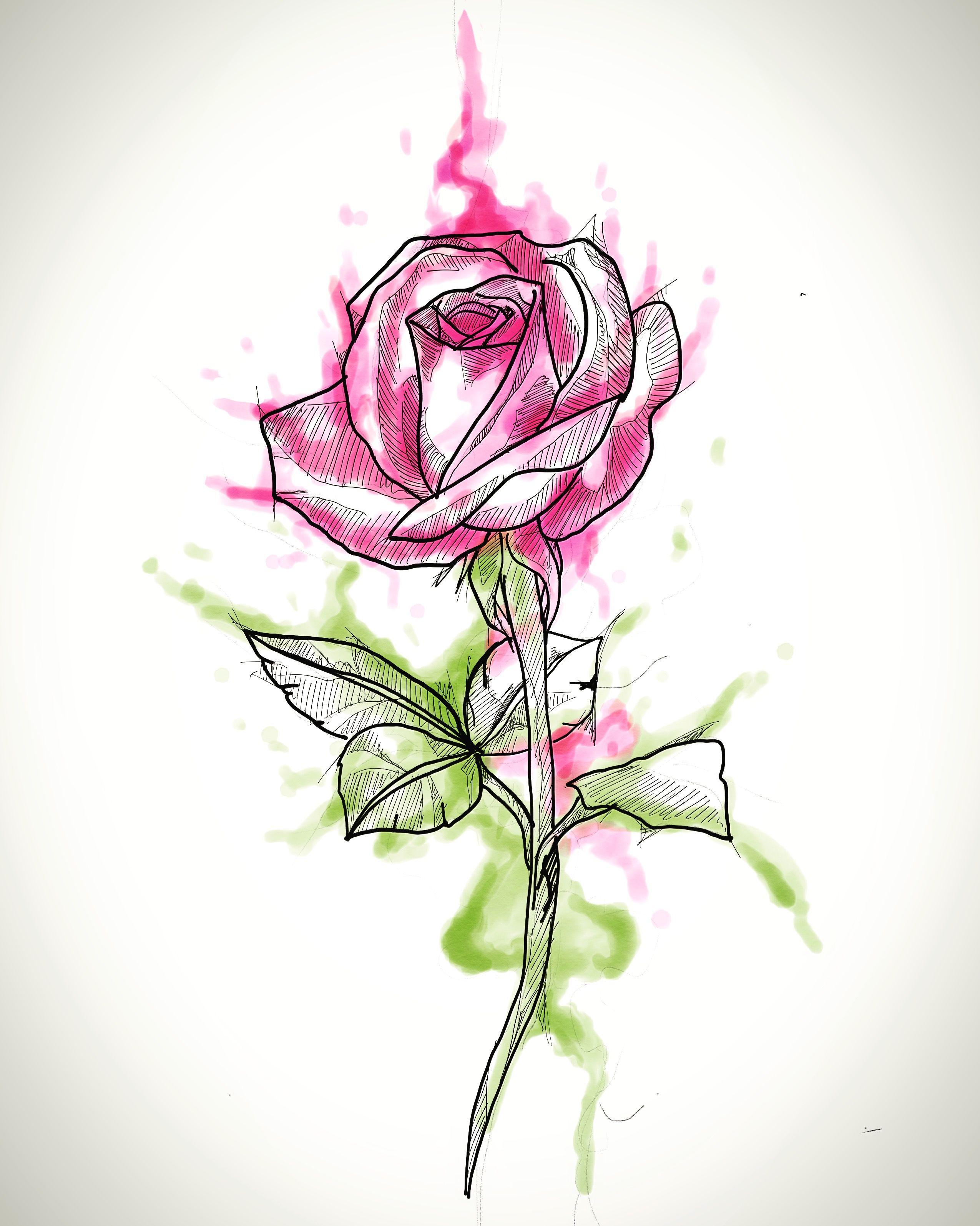 Pin De Tiago Ramos Tattoo Em Art Flor Aquarela Aquarela