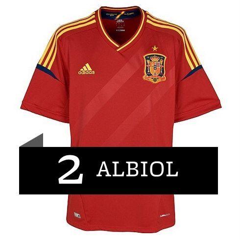 Albiol de la Selección Española Eurocopa 2012 Camiseta ...