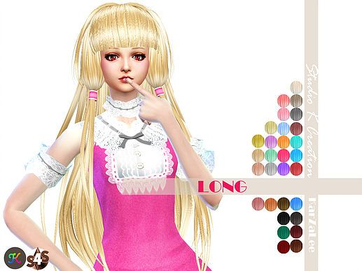 Animate hair59 Chobits at Studio K-Creation • Sims 4 Updates