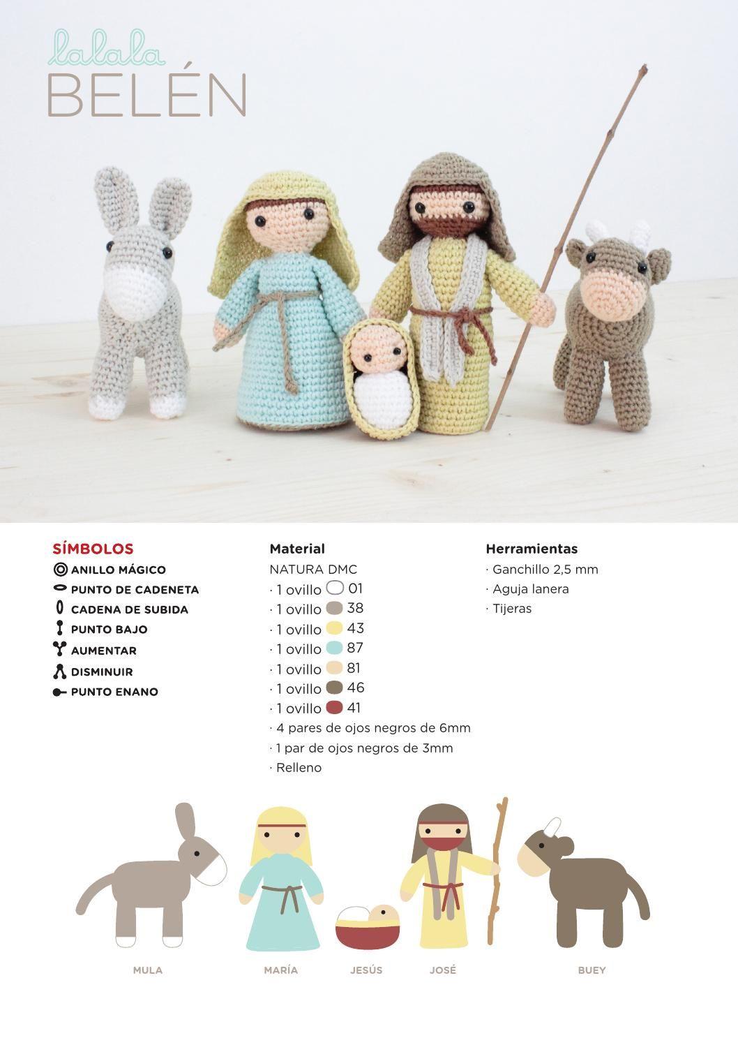 Patrón ganchillo belén Lalala Toys para DMC | crochet | Crochet ...