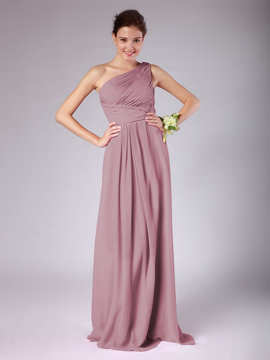 Lovely Chiffon Bridesmaid Dress Dusty Rose Wedding colors | Wedding ...