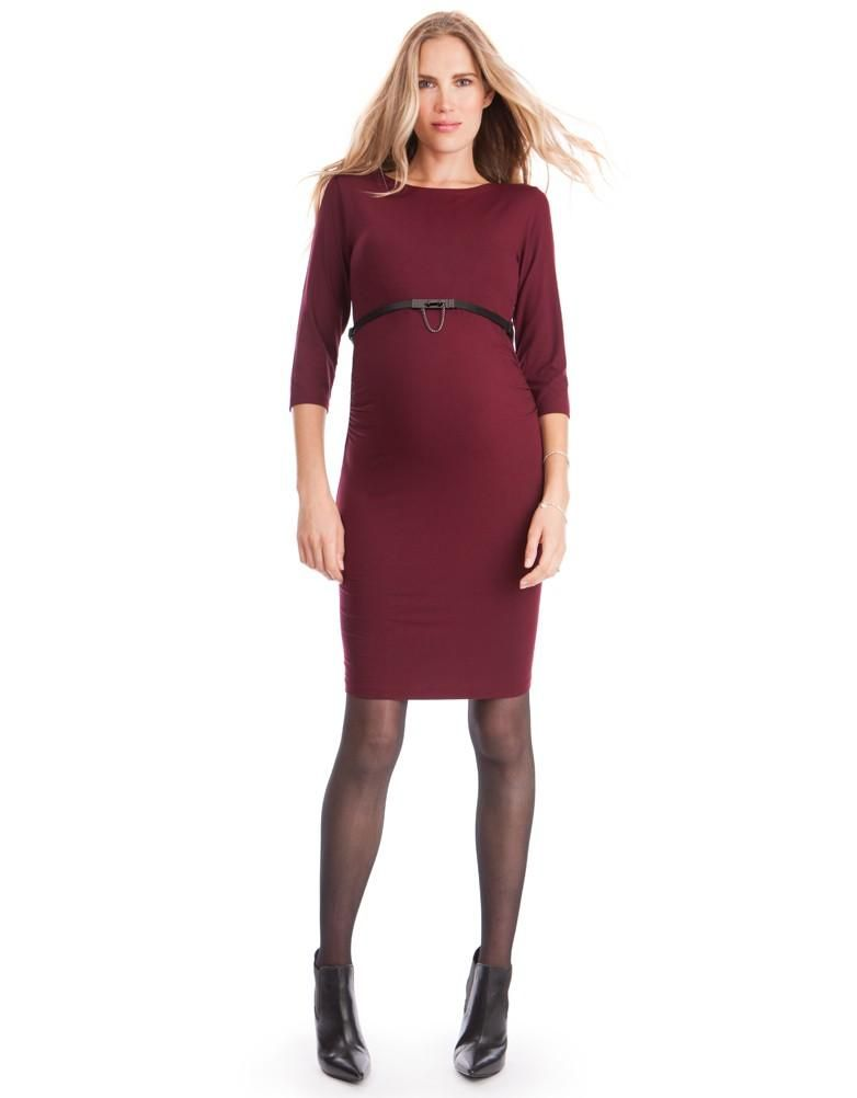 burgundy maternity shift dress seraphine festive fashion christmas party outfit love maternity style fashionably pregnant style the bump - Maternity Christmas Dress