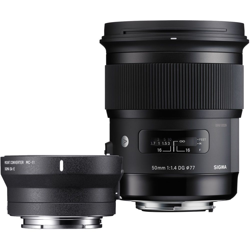 Sigma 50mm f/1.4 DG HSM Art Lens for Canon EF and MC-11 Mount ...