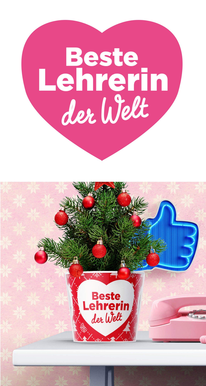 Beste Lehrerin 🎄☃ Geschenk für die Lehrerin zu Weihnachten ...
