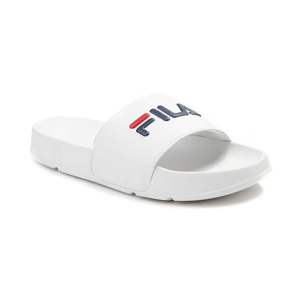 Mens Fila Drifter Slide Sandal White | Sandals, Slide