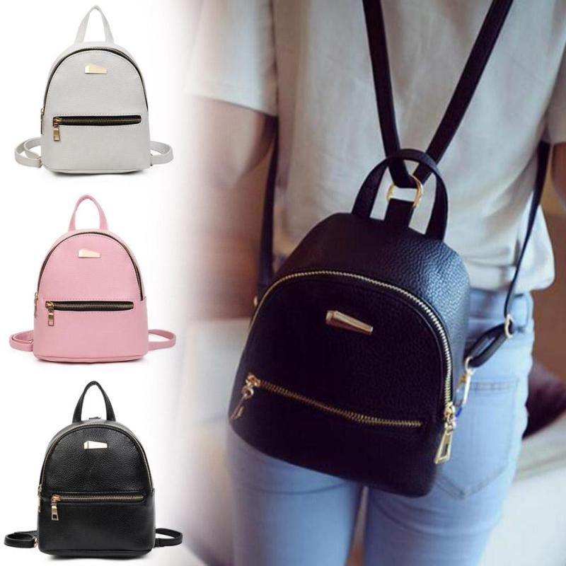 Fashion bags leather women fashion teenage girl school casual backpack  female student bag school bags teenage 90ae2022f70dc