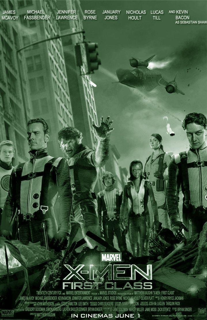 X-MEN, FIRST CLASS: Amerikaanse superheldenfilm uit 2011, gebaseerd op de stripreeks X-Men van Marvel Comics. Het is de vijfde film gebaseerd op deze stripreeks. De film is een prequel op X-Men en mogelijk het eerste deel in een nieuwe trilogie. De film begint in een Duits concentratiekamp tijdens de Tweede Wereldoorlog. Nazi-wetenschapper Dr. Schmidt onderzoekt de jongen Erik Lensherr, die lijkt te beschikken over de bovenmenselijke gave om metaal te manipuleren.