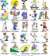 Imagen Relacionada Deportes En Ingles Idiomas Ingles