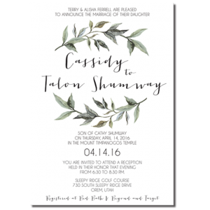 Where To Get Wedding Invitations Printed 141 One Sided Cheap ProgramsClassy