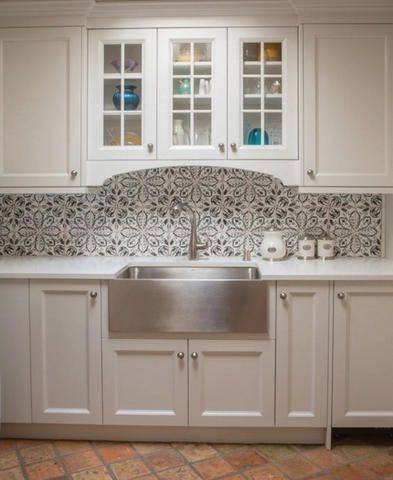 Embossed Concrete Backsplash In The Kitchen 2019 Tiles Flooring Country