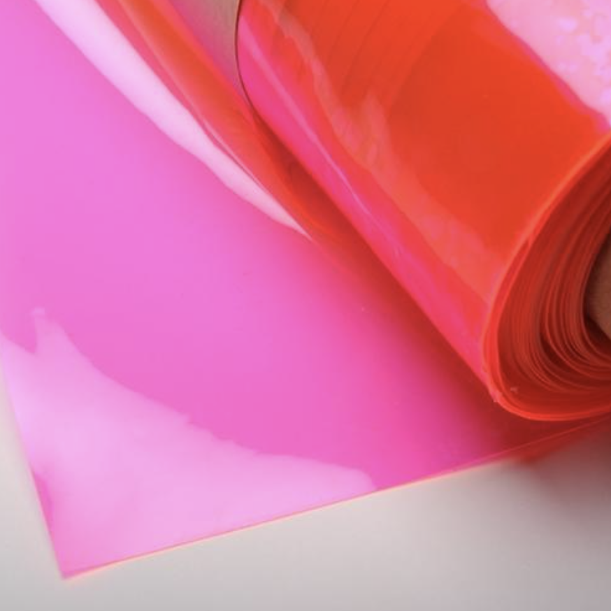 Pink 12 Gauge Tinted Plastic Vinyl Fabric In 2020 Vinyl Fabric Neon Decor Pvc Fabric