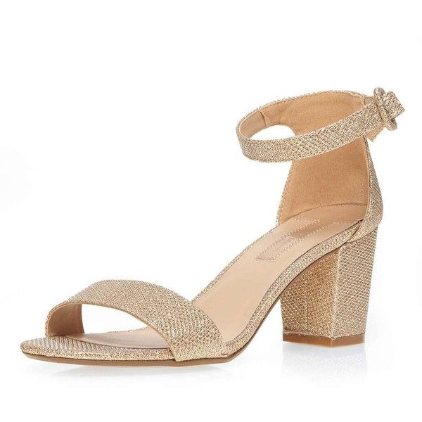a60b9ee4c0e5 Dorothy Perkins Champagne  Rocco  Sandals (€43) ❤ liked on Polyvore  featuring shoes