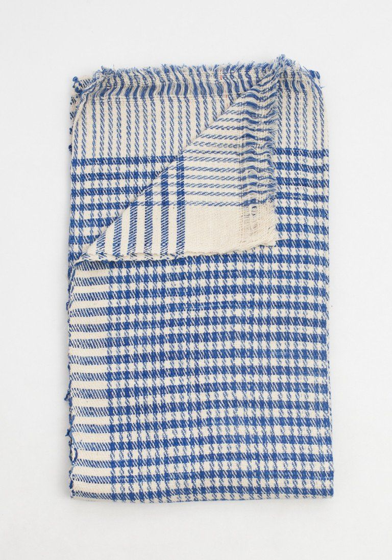Khadi Checkered Throw by Bohem | Bohem