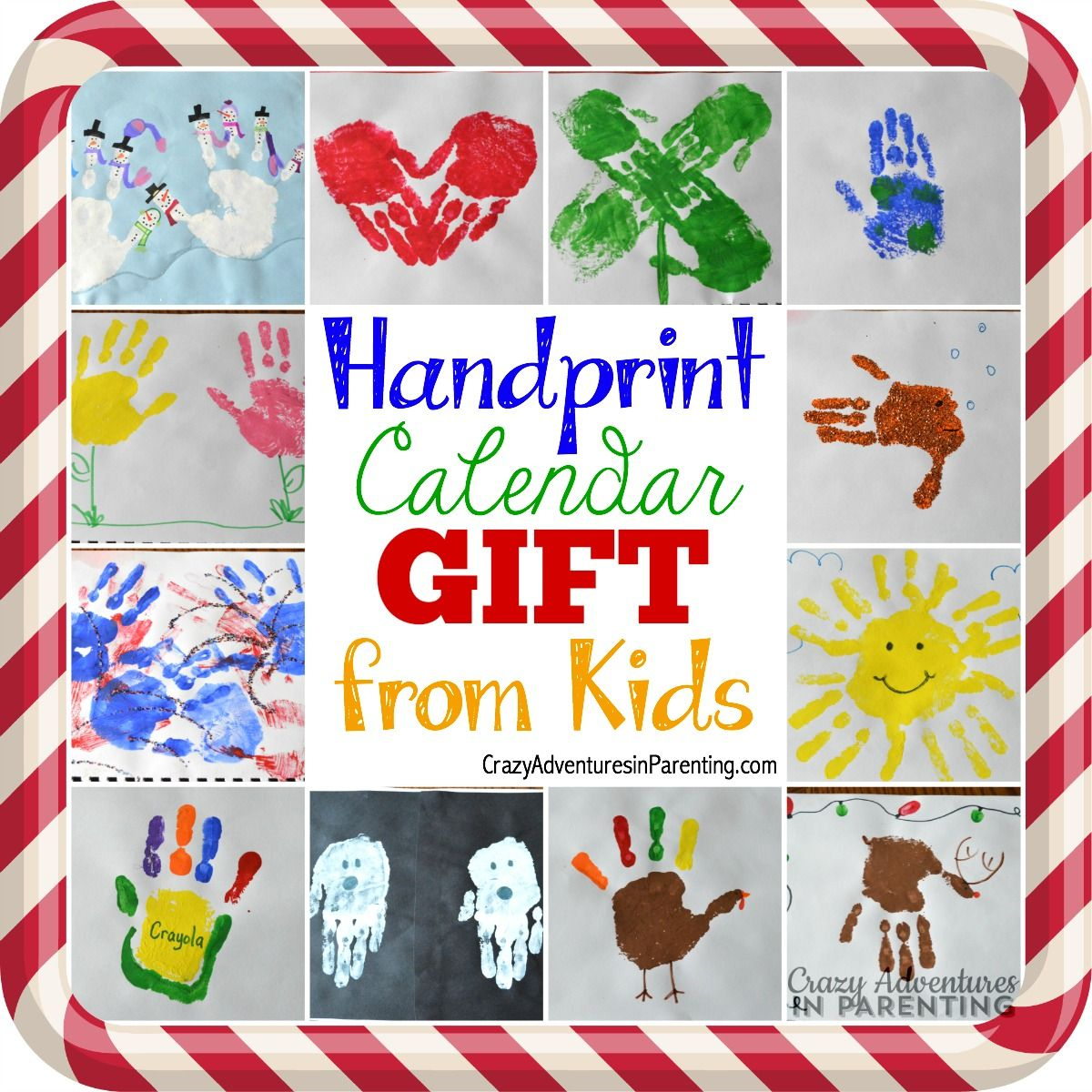 Easy Christmas Gifts For Kids To Make: Handprint Calendar (Plus 15 Homemade Holiday Gift Ideas