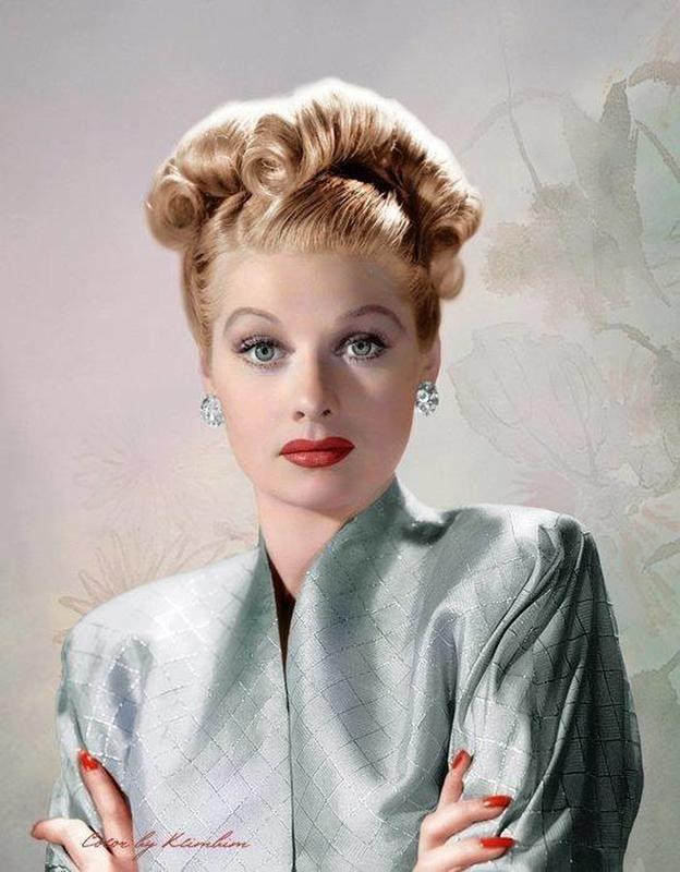 69 Most Beautiful Colorized Images In History #lucilleball