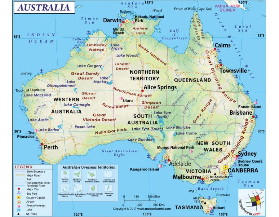 Australia Map store mapsofworld Pinterest Australia map and