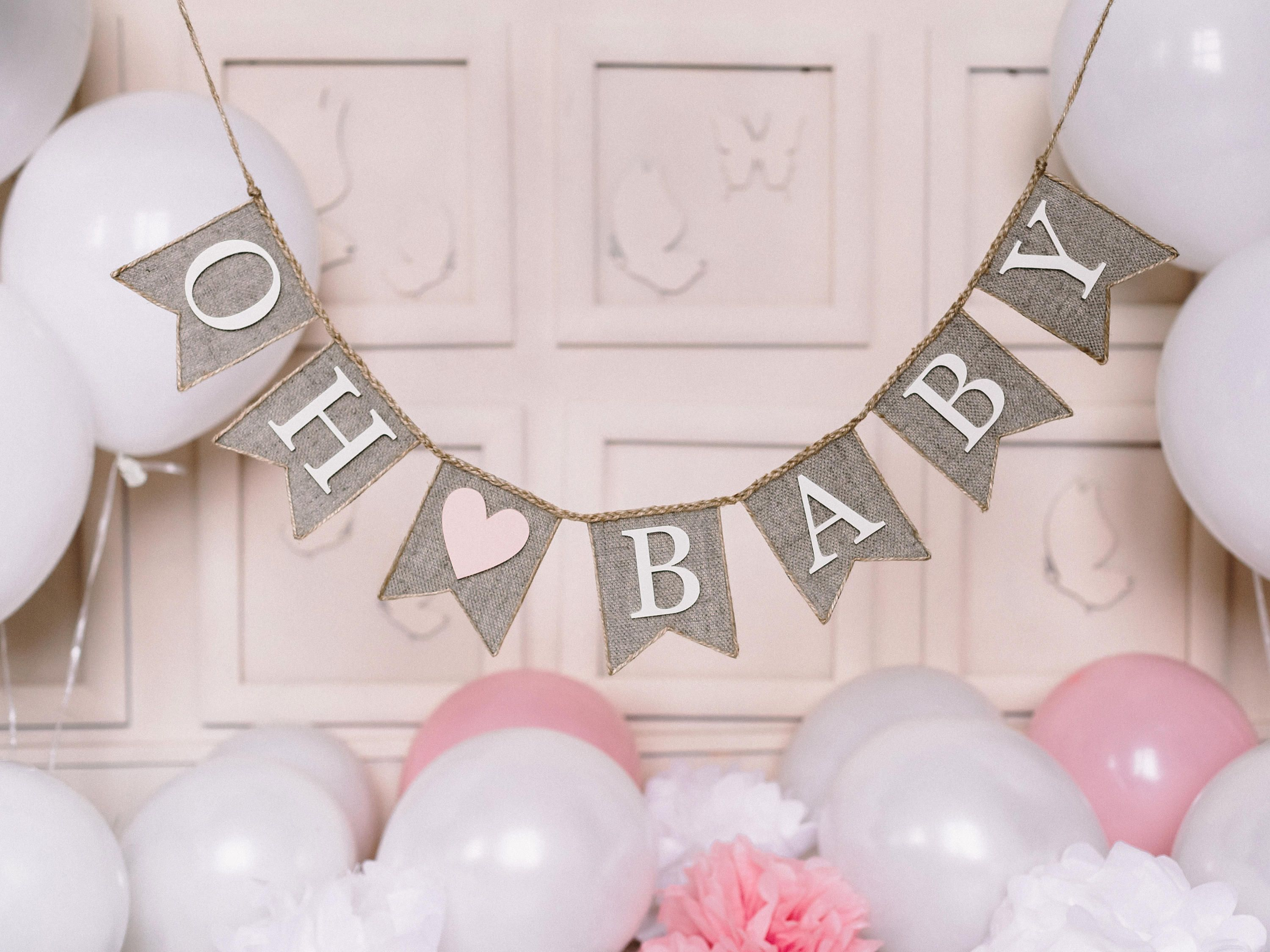 Unisex Baby Shower Bunting~Baby Vest Garland~Baby Shower Decoration~Rainbow Baby Bunting~Baby Shower Banner~Gender Reveal Party~New Baby