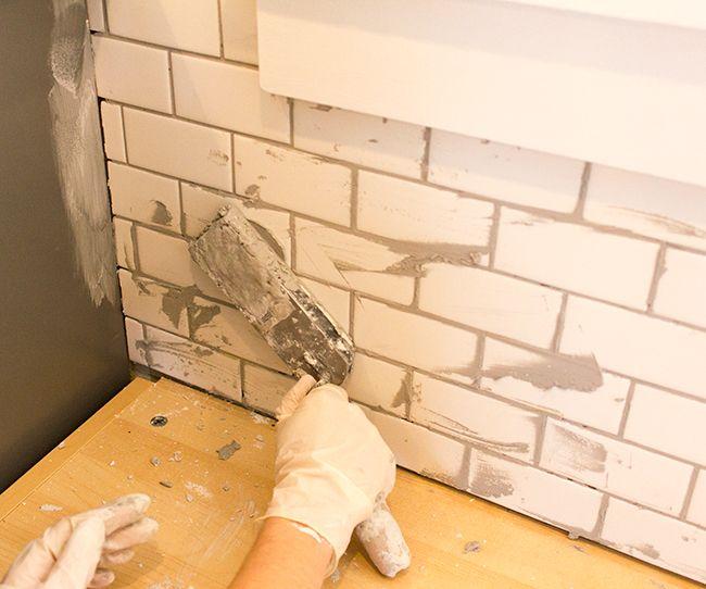 Kitchen Chronicles: A DIY Subway Tile Backsplash, Part 2 | Jenna Sue Design Blog