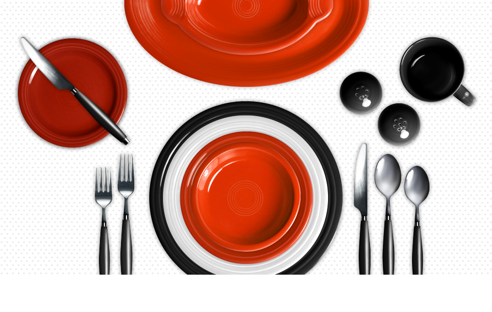 Check out ways to create table settings with  Colorama by Fiesta®  Click to create your own.