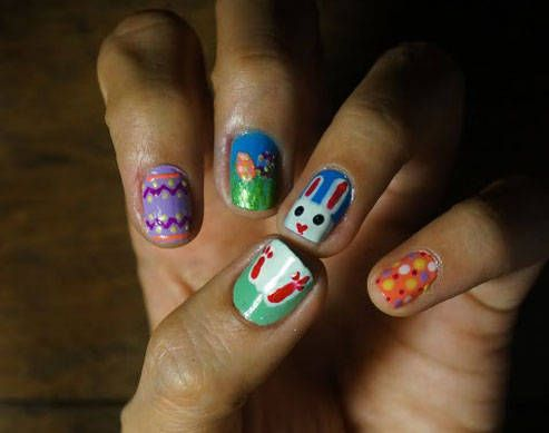 Somebunnys excited to play easter nails how to do it yourself easter nails solutioingenieria Images