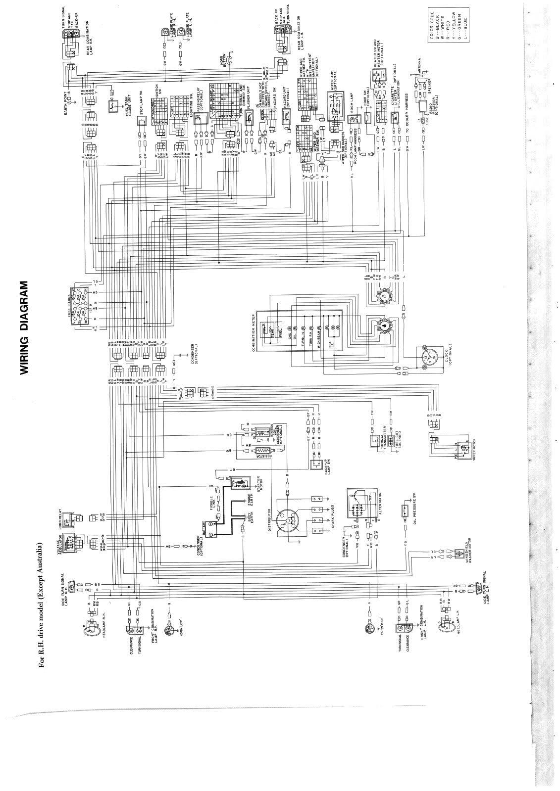 medium resolution of 1974 datsun 620 truck wiring diagram