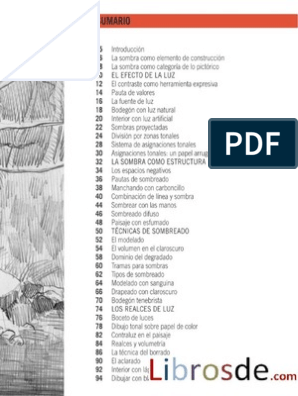 La Luz Y La Sombra En El Dibujo Parramon Academiadedibujo Pdf Event Draw