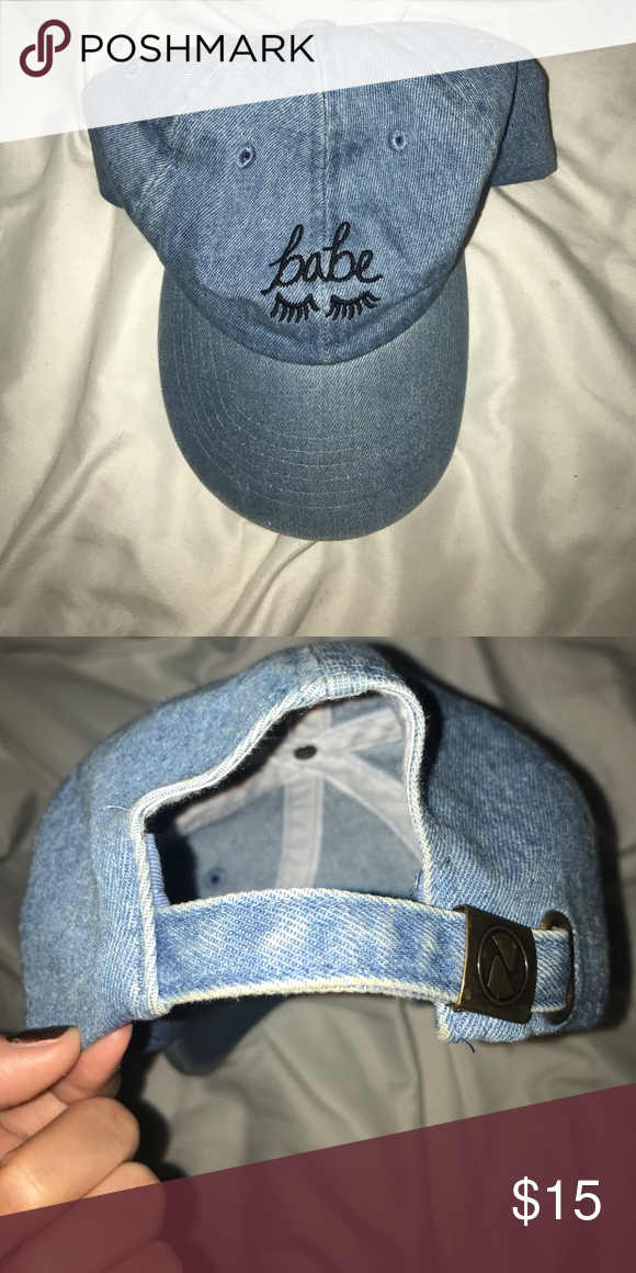 "The Style Club ""babe"" baseball hat Denim ""babe"" baseball hat from the Style Club Urban Outfitters Accessories Hats"