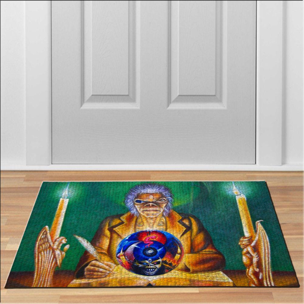 cool iron maiden clairvoyant Doormat Rock Heavy Metal Band Floor ...
