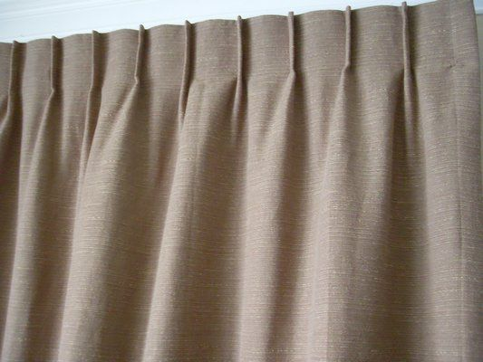 Single Pinch Pleat Drapery Closeup View Curtains Pleated
