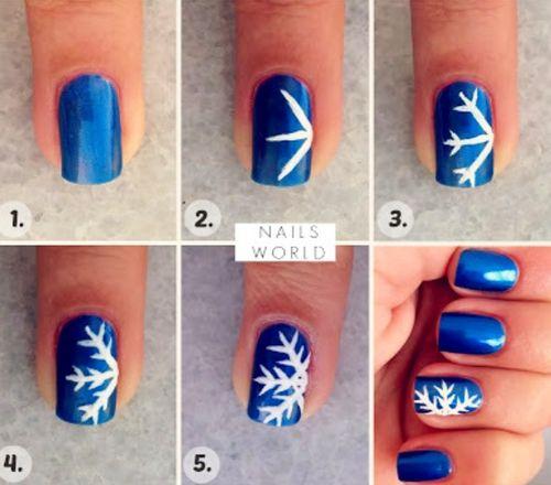Snowflake Nail Art Made Easy Christmas Winter Pinterest