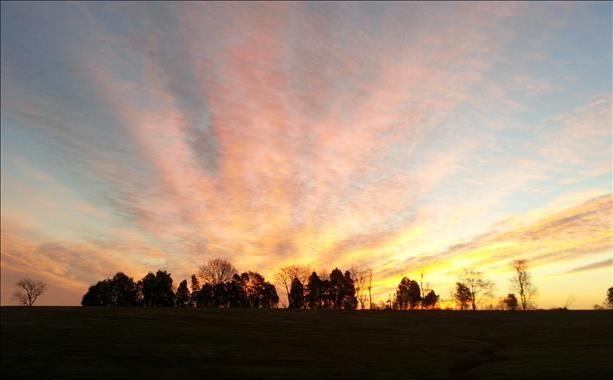 on Monday Sunrise 2-24-14. Enjoy photo Carol Cleveland NC