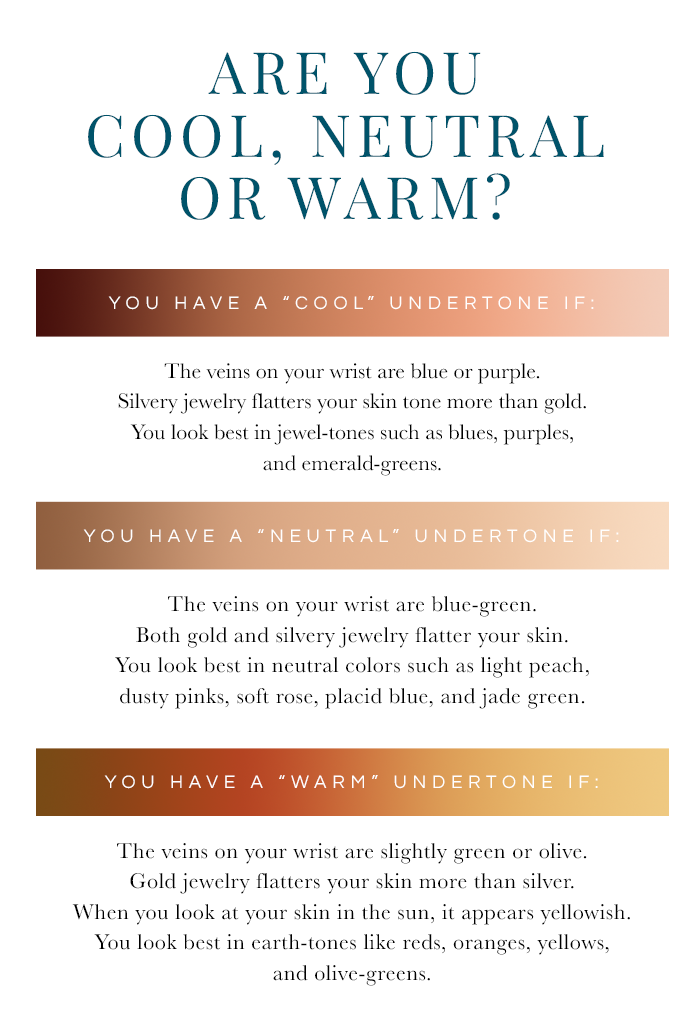 Warm or Cool? How to Determine Your Undertone Neutral