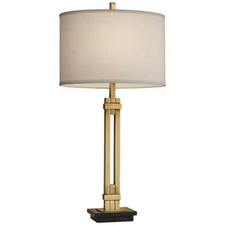 Feiss Marble And Antique Brass Modern Table Lamp 3h586 Lamps Plus Modern Table Lamp Table Lamp Lamp